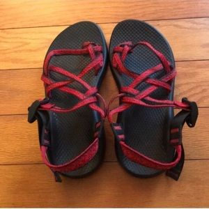 Chaco Sandals Black/Red